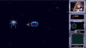 宇宙船とゴール出口