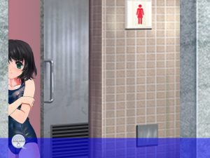ゆっくり女子トイレに入っていく女の子