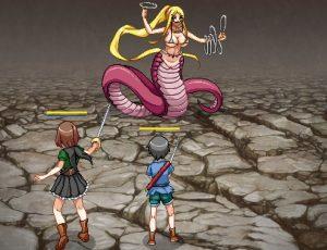巨大な女型敵
