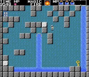 水の洞窟1面 炎の魔法で鍵ゲット