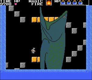 2面ボス巨大魚 突っ込んでくる