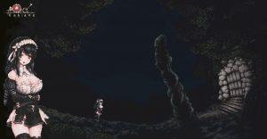 ボスの洞窟前の印象的風景