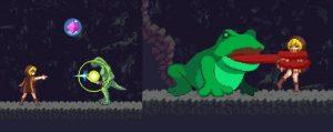 魔法発射&巨大カエル戦